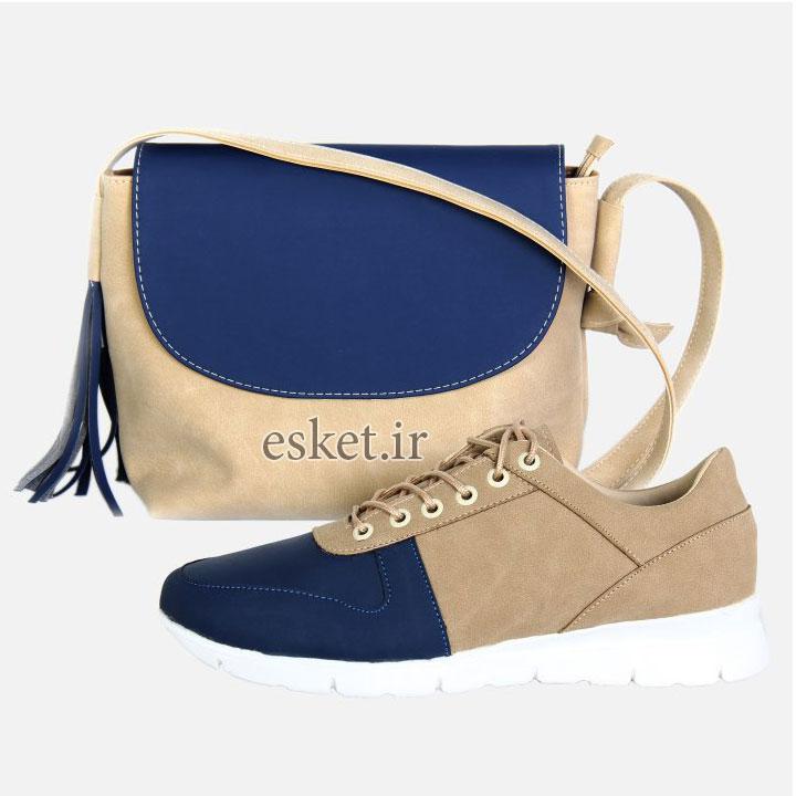 ست کیف و کفش زنانه کد 021 - ست کیف و کفش زنانه زیبا