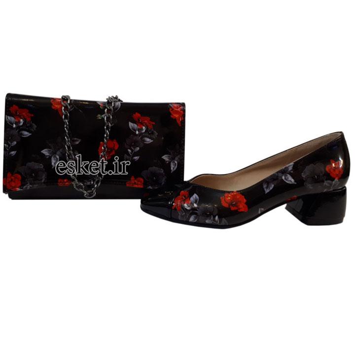 ست کیف و کفش زنانه مدل 601 - ست کیف و کفش زنانه زیبا