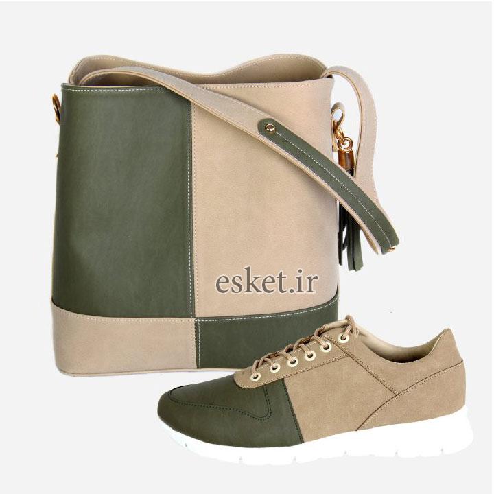 ست کیف و کفش زنانه کد 020 - ست کیف و کفش زنانه زیبا