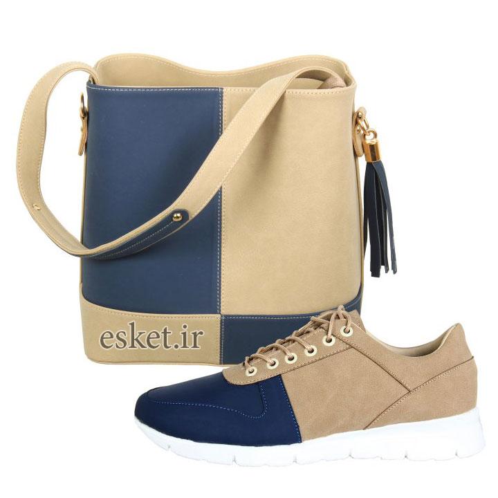 ست کیف و کفش زنانه زیبا کد 028