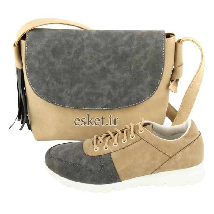 ست کیف و کفش زنانه کد 080 - ست کیف و کفش زنانه زیبا