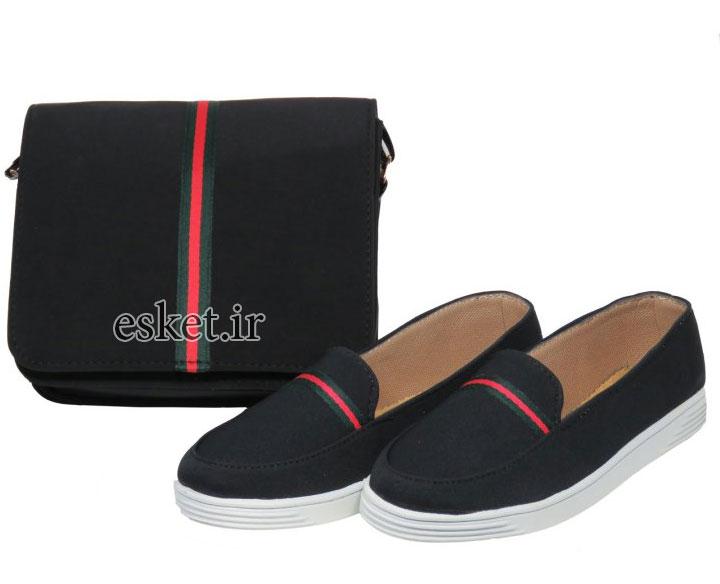 ست کیف و کفش زنانه زیبا پرین طرح گوچی کد PR801