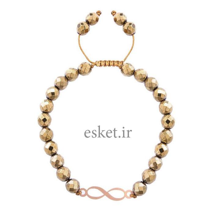 دستبند طلا زنانه زیبا 18 عیار مرجان مدل 0747