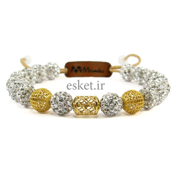 دستبند طلا 18عیار مانچو مدل bfg080 - دستبند طلا زنانه زیبا