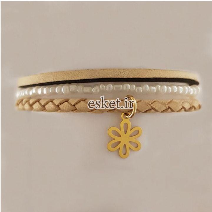 دستبند طلا 18 عیار گالری آمانژ مدل D118 - دستبند طلا زنانه زیبا