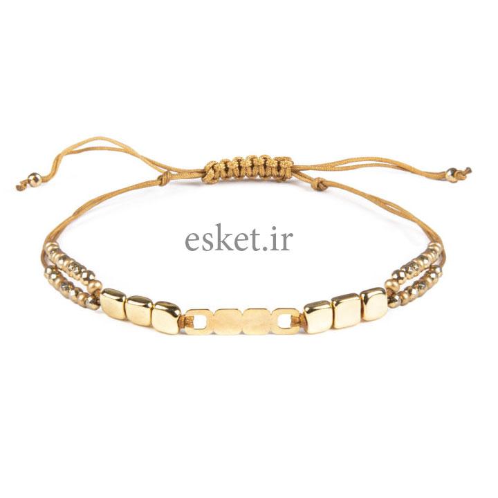 دستبند طلا 18 عیار زنانه ریسه گالری کد Ri3-H1170 0 - دستبند طلا زنانه زیبا