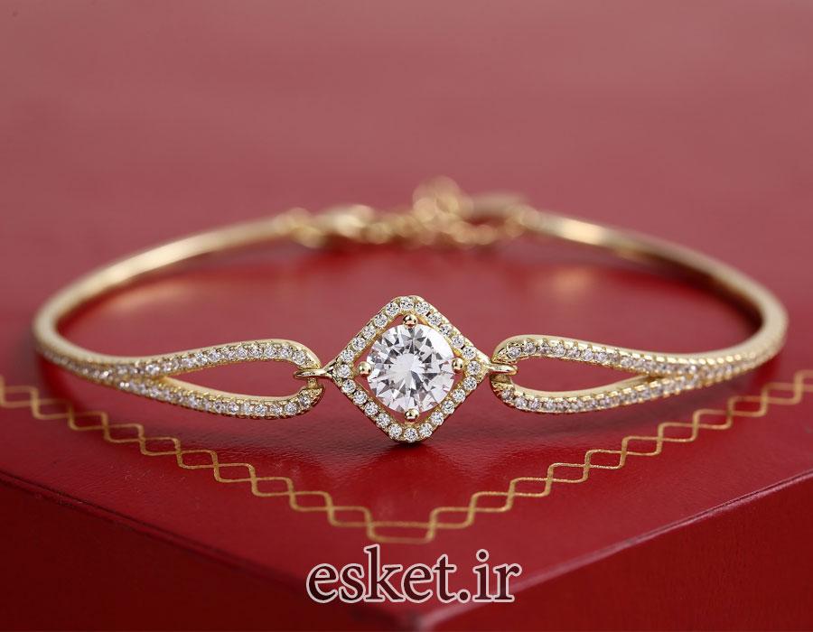 دستبند طلا زنانه زیبا