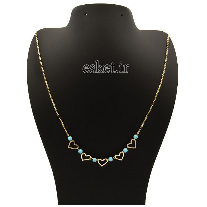 گردنبند طلا 18 عیار زنانه آرشا گالری طرح بینهایت کد 433A2492 - گردنبند طلا زنانه زیبا