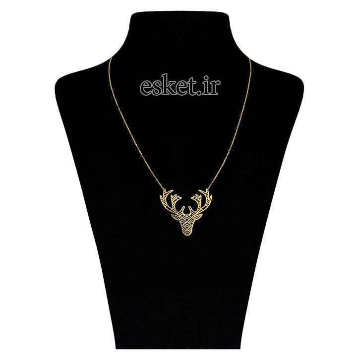 گردنبند طلا 18 عیار زرمان مدل ZMM0844 - گردنبند طلا زنانه زیبا