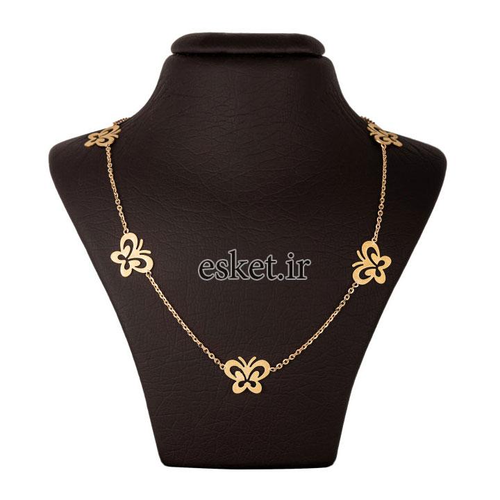 گردنبند طلا 18 عیار زنانه جواهری سون مدل 2519 - گردنبند طلا زنانه زیبا
