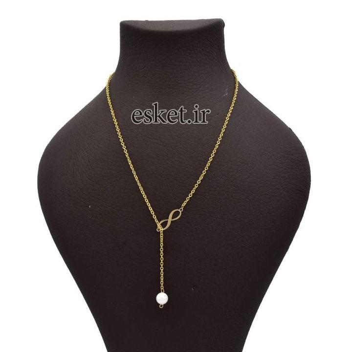گردنبند طلا زنانه زیبا زرلوکس طرح بی نهایت کد Zr13
