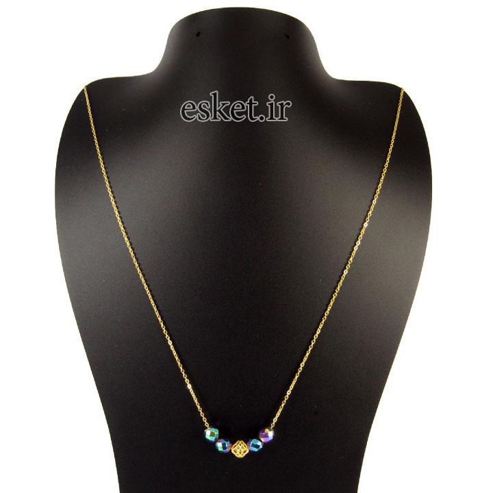 گردنبند طلا زنانه زیبا مانچو مدل Sfg623