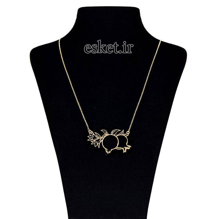 گردنبند طلا زنانه زیبا ماهک مدل MM0612