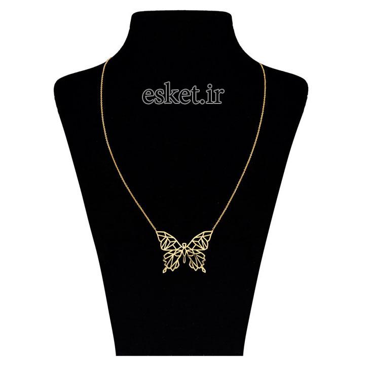 گردنبند طلا زنانه زیبا مایا ماهک مدل ZMM0843
