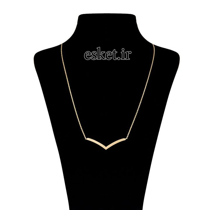 گردنبند طلا زنانه زیبا ماهک مدل MM0404