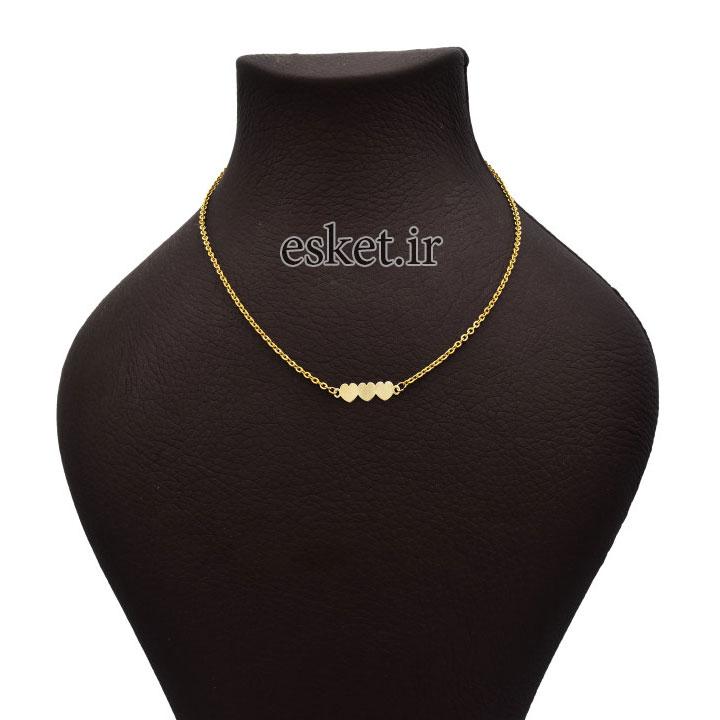 گردنبند طلا زنانه زیبا آرشا گالری طرح قلب کد 430A2489