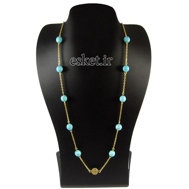 گردنبند طلا زنانه زیبا مانچو مدل Sfg613