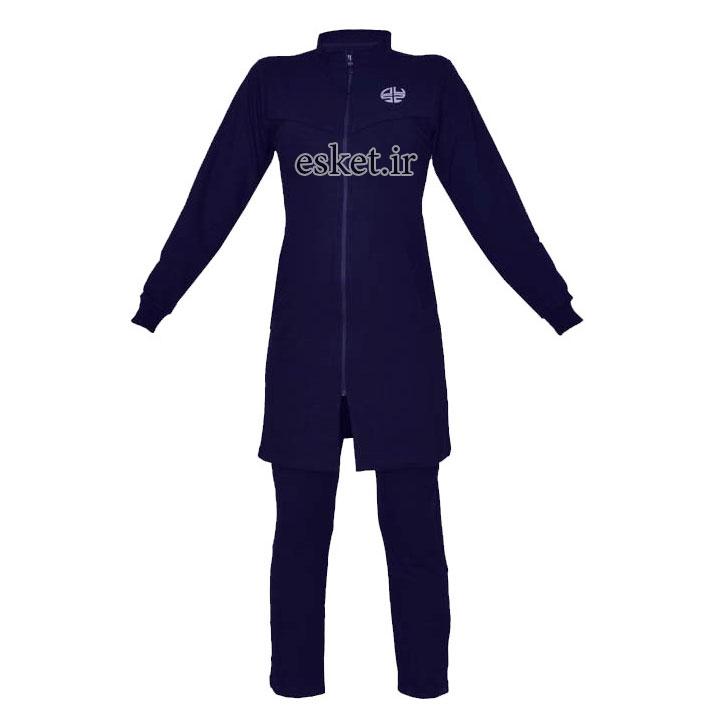 ست گرمکن و شلوار ورزشی زنانه ساراچی کد 405 رنگ سرمه ای - گرمکن ورزشی زنانه زیبا و شیک