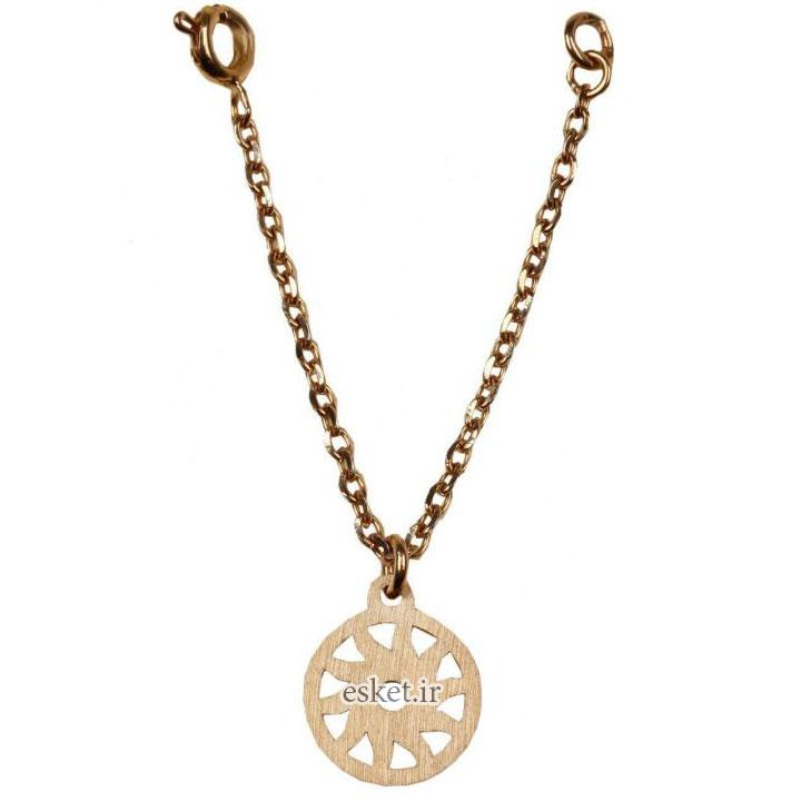 آویز ساعت طلا 18 عیار نفیس گلد مدل خورشید - آویز ساعت طلا شیک و جذاب