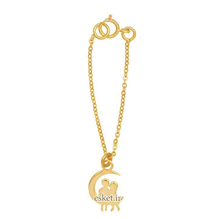 آویز ساعت طلا 18 عیار رزا مدل WTC97 - آویز ساعت طلا شیک و جذاب