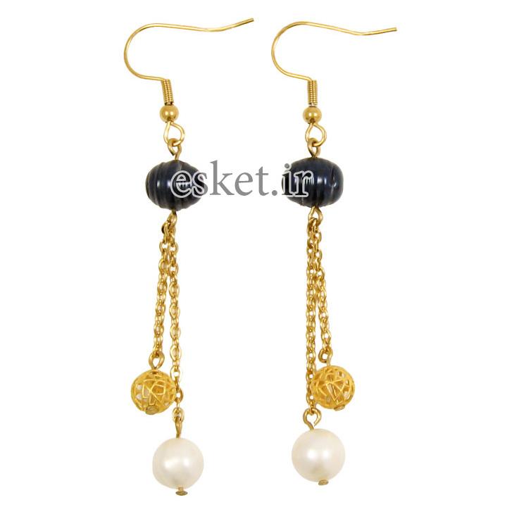گوشواره طلا 18 عیار زنانه مانچو مدل efg013 - گوشواره طلا شیک و جذاب