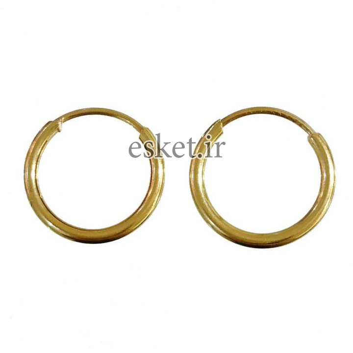 گوشواره طلا 18عیار گالری طلای کانیار مدل M0912 - گوشواره طلا شیک و جذاب