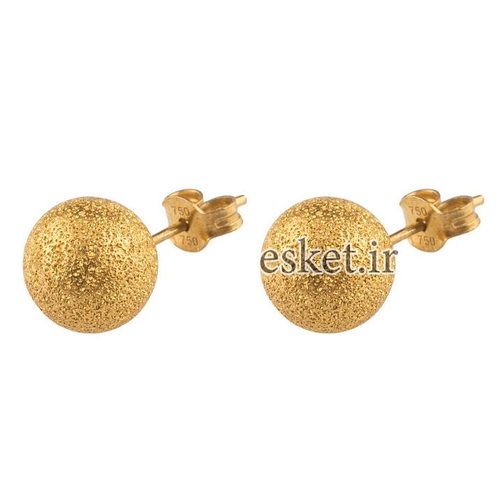 گوشواره طلا شیک و جذاب 18عیار گالری طلاچی مدل گوی طلایی
