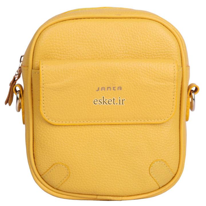 کیف زنانه شیک زیبا چرم جانتا مدل D078