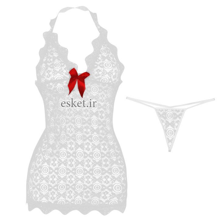 لباس خواب زنانه مدل White-Pearl - ست لباس خواب زنانه زیبا