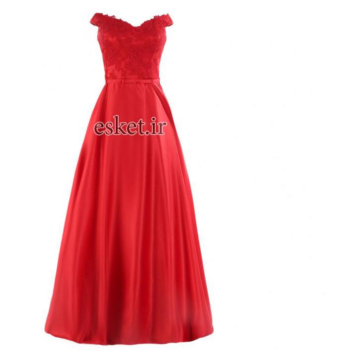 پیراهن زنانه مدل Dreamy Style رنگ قرمز - پیراهن مجلسی زنانه شیک جدید
