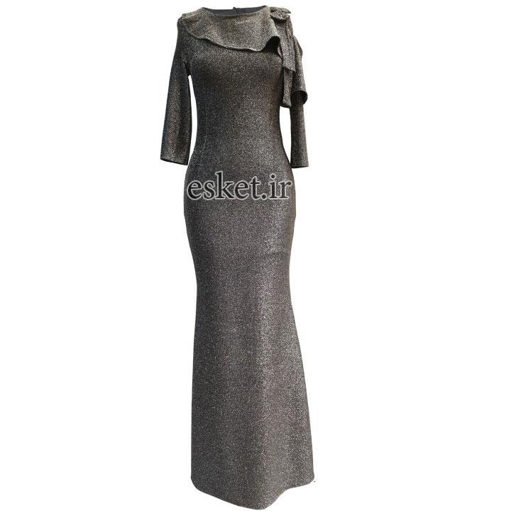 پیراهن زنانه مدل 3807SR - پیراهن مجلسی زنانه شیک جدید