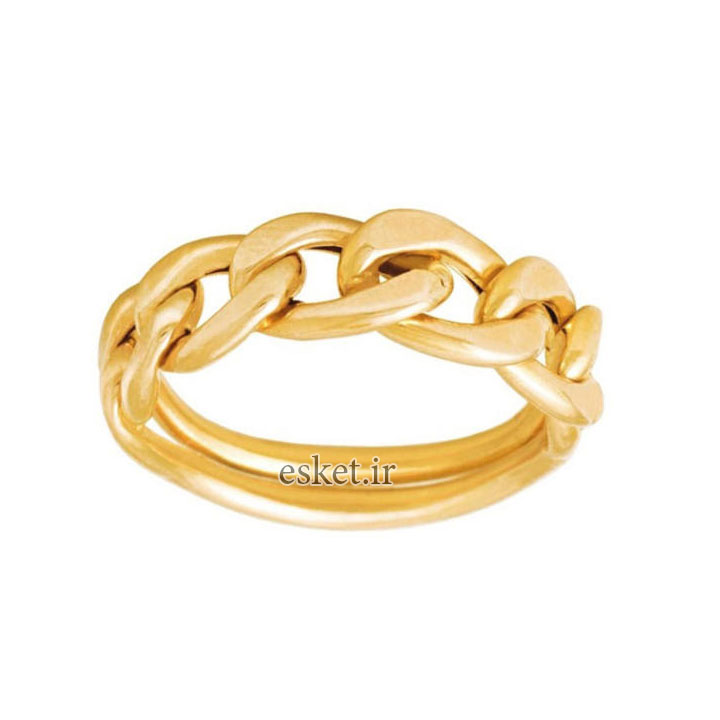 انگشتر طلا زنانه شیک و جدید 18 عیار زنانه گالری مرجان کد 0916