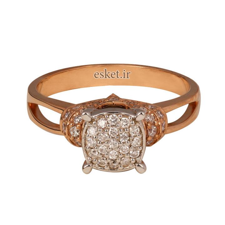 انگشتر طلا ۱8 عیار زنانه کد 01020 - انگشتر طلا زنانه شیک و جدید