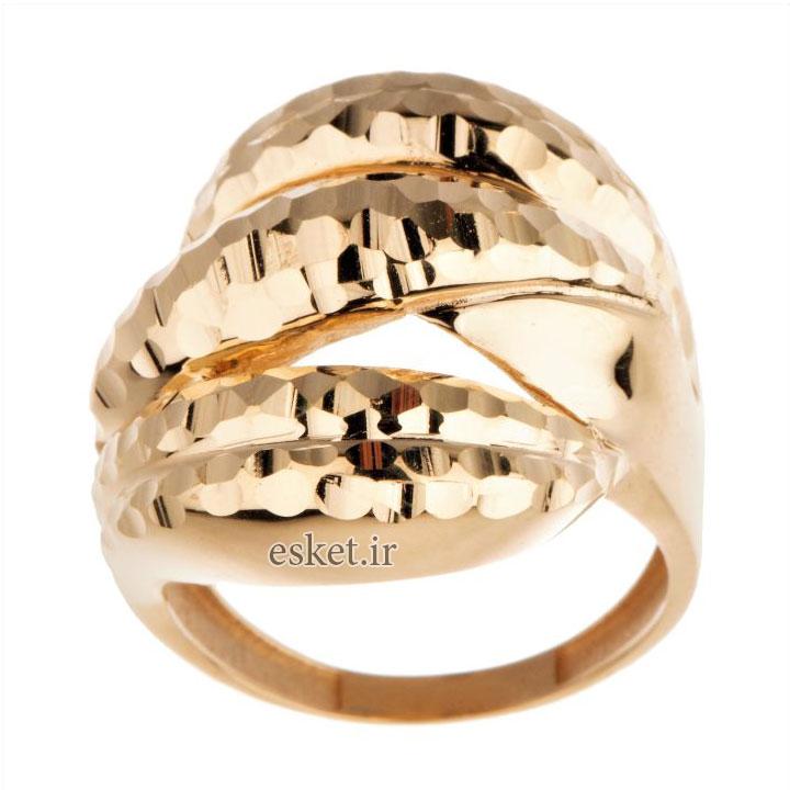 انگشتر طلا زنانه شیک و جدید 18 عیار زنانه مدل T16713