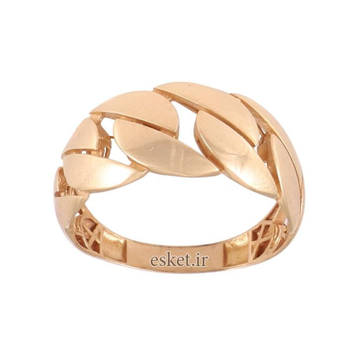 انگشتر طلا 18 عیار زنانه کد G771 - انگشتر طلا زنانه شیک و جدید