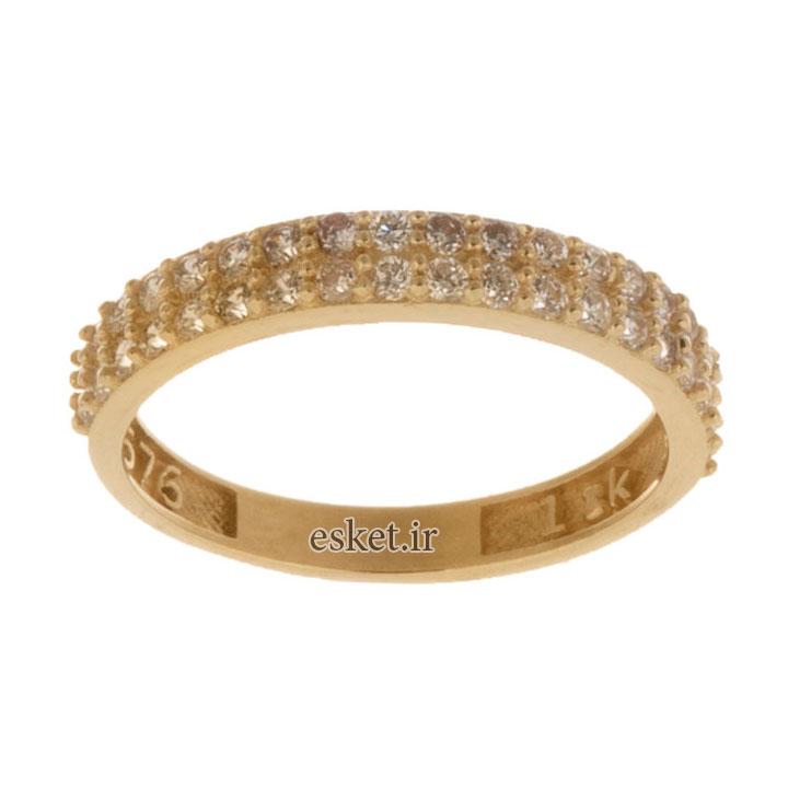 انگشتر طلا زنانه شیک و جدید 18 عیار زنانه کانیار گالری کد AR1