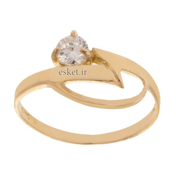 انگشتر طلا 18 عیار زنانه کد 010 - انگشتر طلا زنانه شیک و جدید