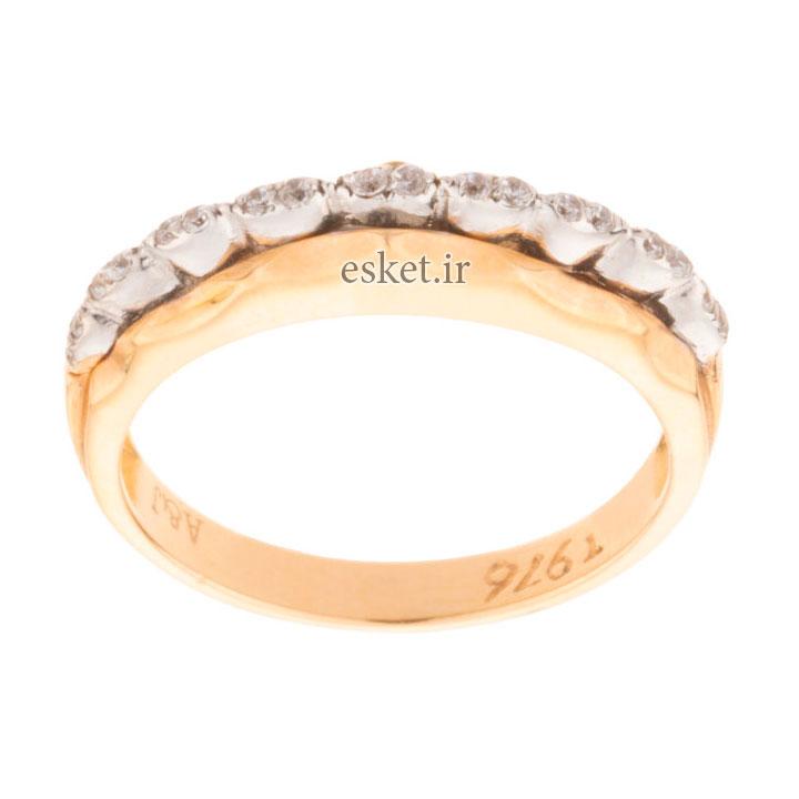 انگشتر طلا 18 عیار زنانه کد 110542 - انگشتر طلا زنانه شیک و جدید