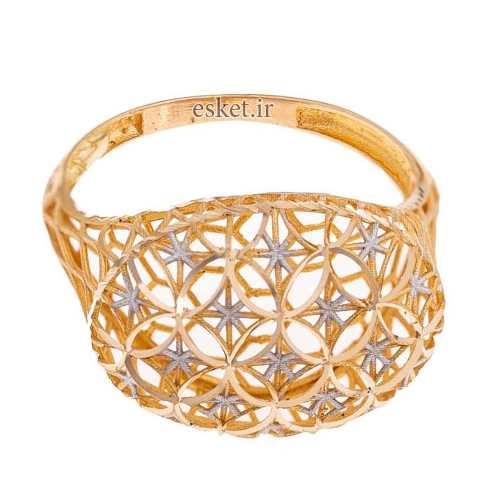 انگشتر طلا 18 عیار زنانه گالری یارطلا مدل فیوژن کد ANF03 - انگشتر طلا زنانه شیک و جدید