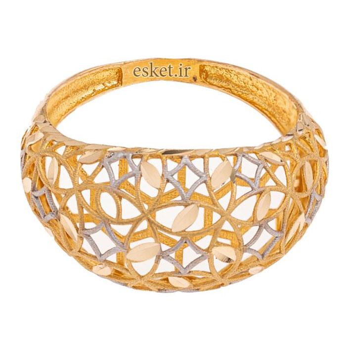 انگشتر طلا 18 عیار زنانه گالری یارطلا مدل فیوژن کد ANF02 - انگشتر طلا زنانه شیک و جدید