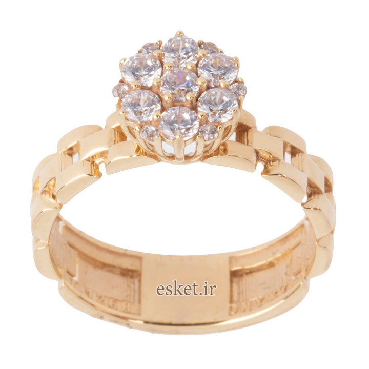انگشتر طلا 18 عیار زنانه مایا ماهک مدل MR0362 - انگشتر طلا زنانه شیک و جدید