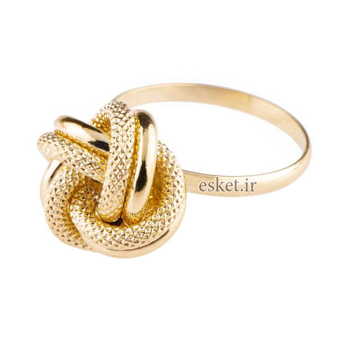 انگشتر طلا 18عیار کد E108 - انگشتر طلا زنانه شیک و جدید