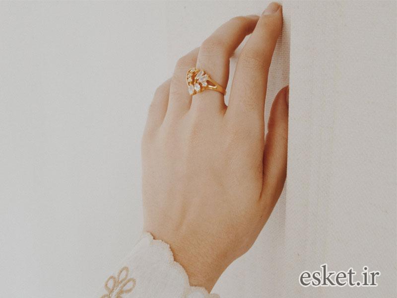 انگشتر طلا زنانه شیک و جدید