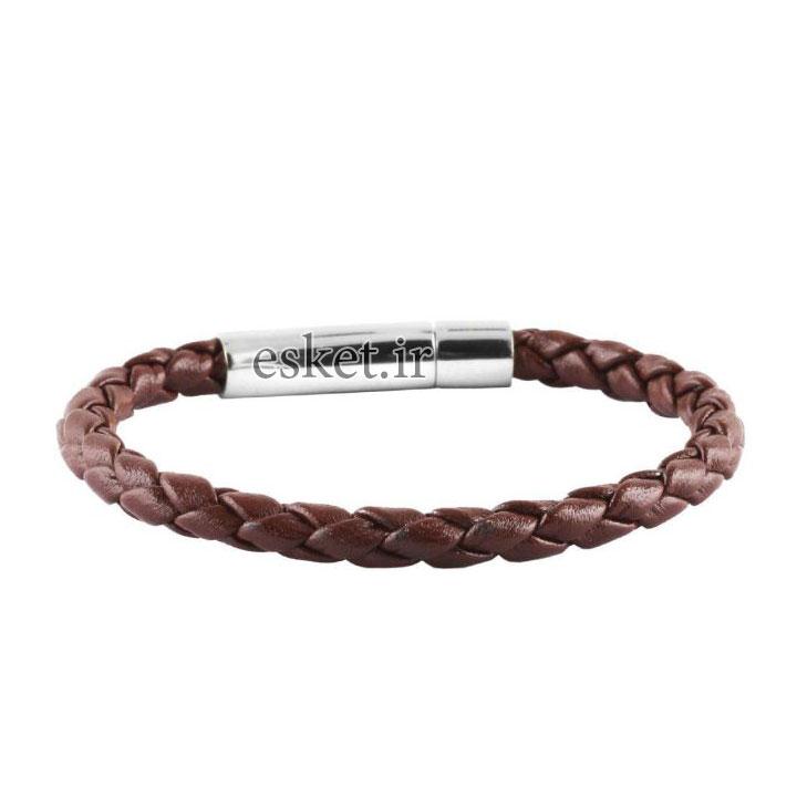 دستبند چرمی زنانه شیک چرمیآتیس کد I800SLV5MIL
