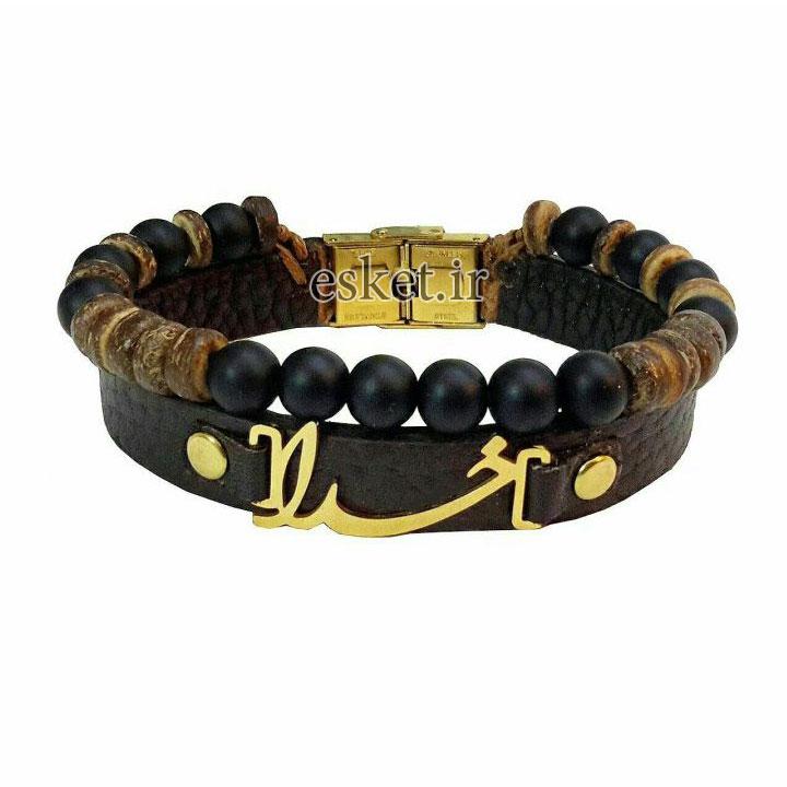 دستبند چرمی زنانه شیک مانی چرم مدل BL-144 سایز M