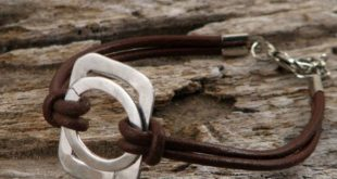دستبند چرمی زنانه شیک