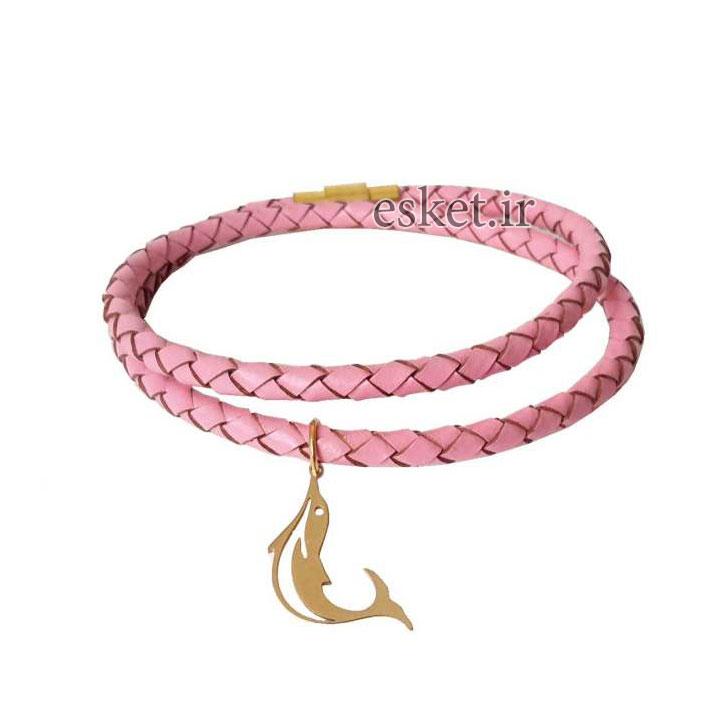 دستبند چرمی زنانه شیک مانی چرمکد BL-193