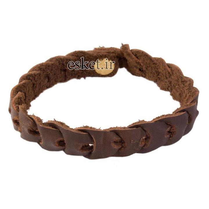 دستبند چرمی زنانه شیک امیدا کد OM04