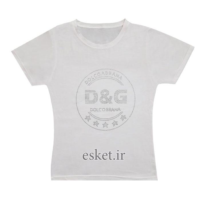 تیشرت زنانه شیک و جدید زنانه مدل DGSE09 رنگ سفید غیر اصل