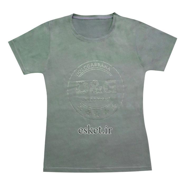 تی شرت زنانه مدل GSA08 رنگ سبز غیر اصل - تیشرت زنانه شیک و جدید